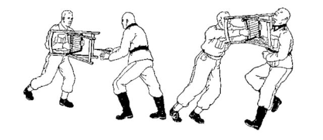 Obrona przed nożem - obrona krzesłem
